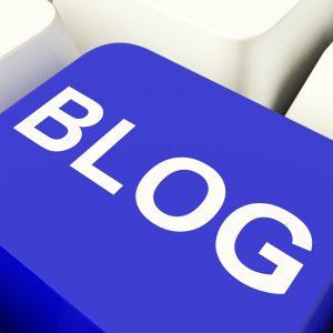 Blog Computer Key In Blue For Blogger Websites